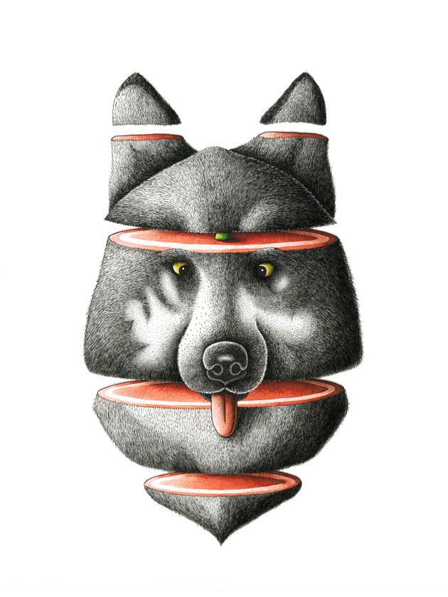– Roti de loup print –